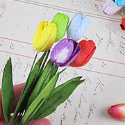 Mulberry Paper Tulips*