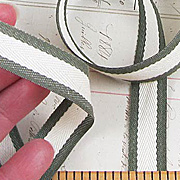 Green Striped Cotton Twill