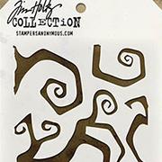 Tim Holtz Stencil - Twisted Script