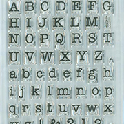Small Typewriter Letters Clear Stamp Set