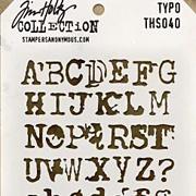 Tim Holtz Stencil - Typo