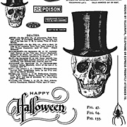 Undertaker Cling-Mounted Stamp Set