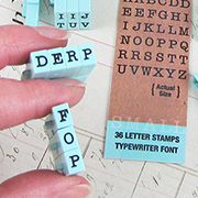 Clickable Typewriter Alphabet Stamps 3/16 Inch - Uppercase