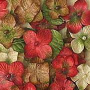 Velvet Hydrangeas - Red
