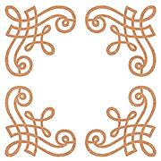 Victorian Chipboard Scroll Corners