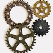 Vintage Gears - Set of 4*