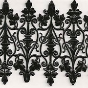 Black Wrought Iron Dresden Scrolls