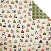 Warm & Cozy Winter Hats Scrapbook Paper