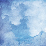 Blue Watercolor Clouds Scrapbook Paper