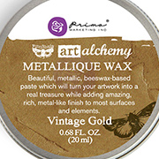 Art Alchemy Metallique Wax - Vintage Gold