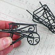 3 Inch Rustic Wheelbarrow