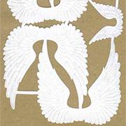 Sheet of White Dresden Wings