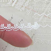 Tiny White Lace Border Stickers Mix - 5 Sheets