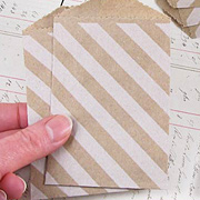 Striped Kraft Envelopes - White