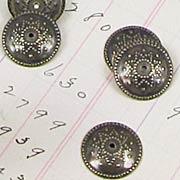 12mm Flat Fancy Bead Cap - Bronze*