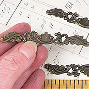 Wide Brass Filigree Header*