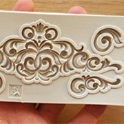 Wide Header with 4 Scrolls Silicone Mold
