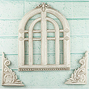 Shabby Chic Resin Old Church Windows