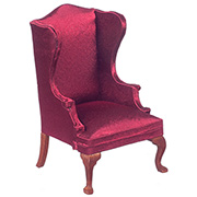 Burgundy Red Wingback Chair