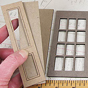 Dollhouse Windows with Shutters 1:12