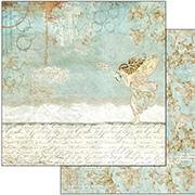 Wonderland Fairy & Writings Scrapbook Paper