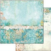 Wonderland Turquoise Texture Scrapbook Paper