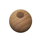 1-1/8 Inch Wood Bead with Hole