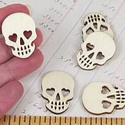 Wood Skull Cut-Outs**