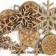 Wood Veneer Snowflake Set*