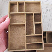 Mini Wood Printers Type Tray Shadowbox*