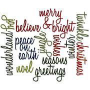 Tim Holtz Thinlits Holiday Words Die Set