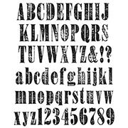 Tim Holtz Worn Text Cling Stamp Set