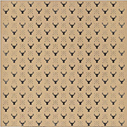 Kraft Christmas Deer Scrapbook Paper