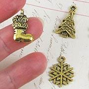 Christmas Charm Set - Gold*