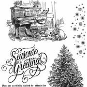 Christmas Magic Cling-Mounted Stamp Set