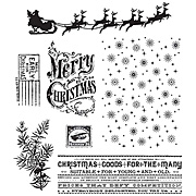 Christmas Nostalgia Cling Stamp Set