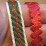 Patterned Christmas Ribbons