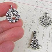 Christmas Charm Set - Silver*