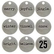Tim Holtz Typed Tokens - Christmas Words