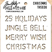 Tim Holtz Stencil - Christmas Text