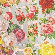 Pink & Yellow Roses Dresden Scraps