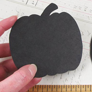 Black Chipboard Pumpkin