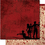 Zombie Attack Scrapbook Paper - Dead Man Walking