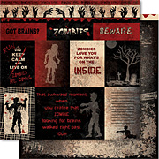 Zombie Attack Scrapbook Paper - Zombie Cut-Outs